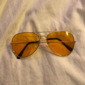 Vintage Clear orange sunglasses Urban Outfitters